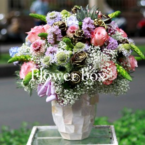 Bình hoa khảm trai - FBVA 046