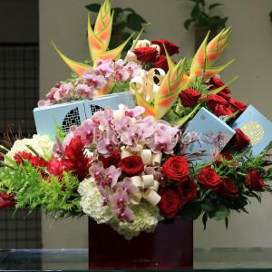 Hộp Hoa và Bánh Trung Thu - FBGB 009