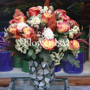 Bình hoa khảm trai - FBVA 079