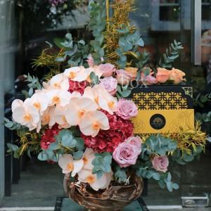 Hộp Hoa và Bánh Trung Thu - FBGB 008