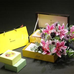 Hộp Hoa và Bánh Trung Thu - FBGB 010