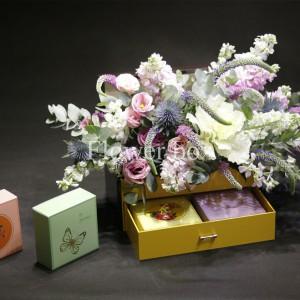 Hộp Hoa và Bánh Trung Thu - FBGB 011