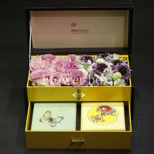 Hộp Hoa và Bánh Trung Thu - FBGB 012